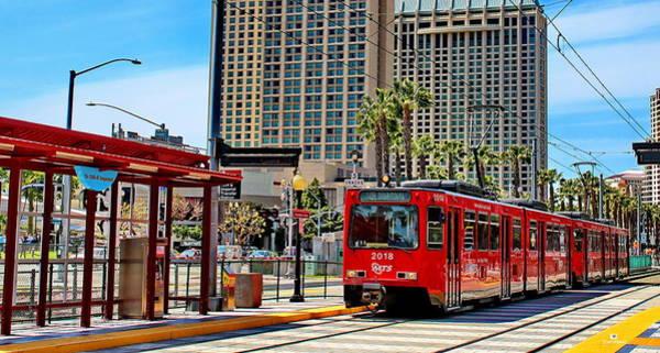 San Diego Trolley Downtown Art Print