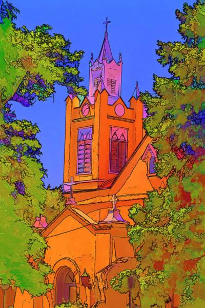 Photograph - San Felipe De Neri Parish - Faux Painting by Bill Barber