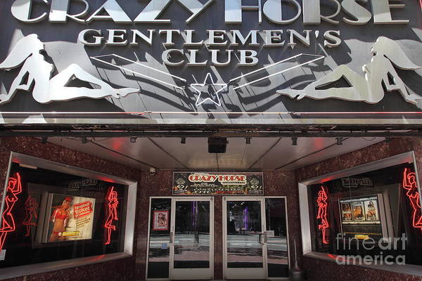 Crazy Horse Photograph - San Francisco - Crazy Horse Gentlemen's Club On Market Street - 5d17977 by Wingsdomain Art and Photography