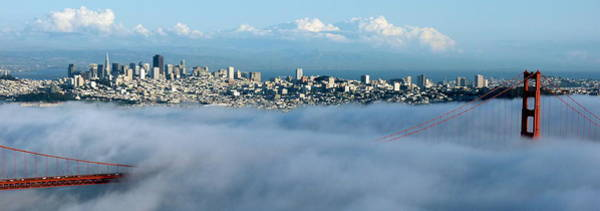 Photograph - San Francisco And Golden Gate Bridge Panoramic by Jeff Lowe