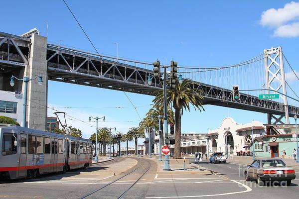 Photograph - San Francisco Bay Bridge At The Embarcadero . 7d7706 by Wingsdomain Art and Photography