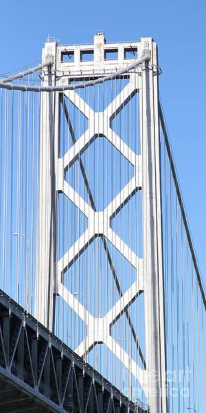 Photograph - San Francisco Bay Bridge At The Embarcadero . 7d7762 by Wingsdomain Art and Photography