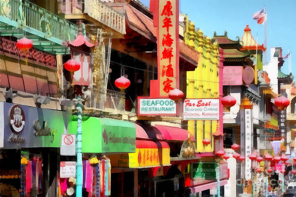 Photograph - San Francisco Chinatown . 7d7174 by Wingsdomain Art and Photography