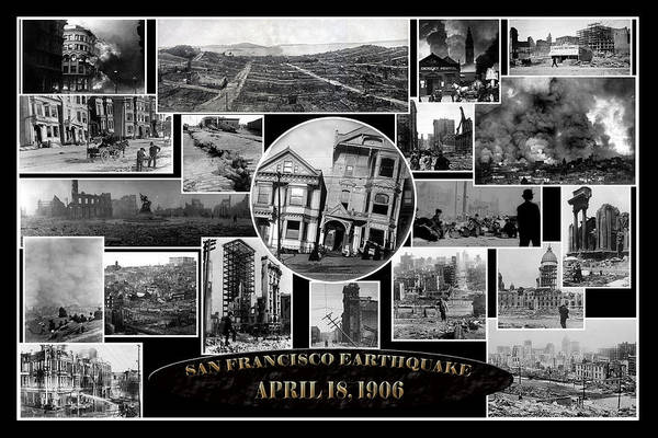 Photograph - San Francisco Earthquake by Andrew Fare