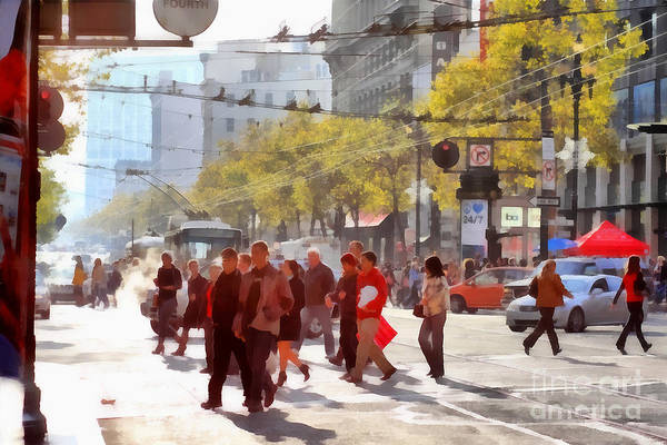 Photograph - San Francisco Market Street . 40d3701 by Wingsdomain Art and Photography