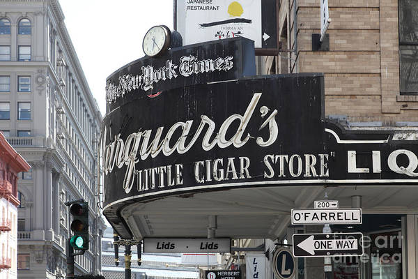Photograph - San Francisco Marquard's Little Cigar Store Powell And O'farrell Streets - 5d17954 by Wingsdomain Art and Photography