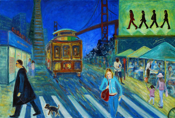Painting - San Francisco Moments by Xueling Zou