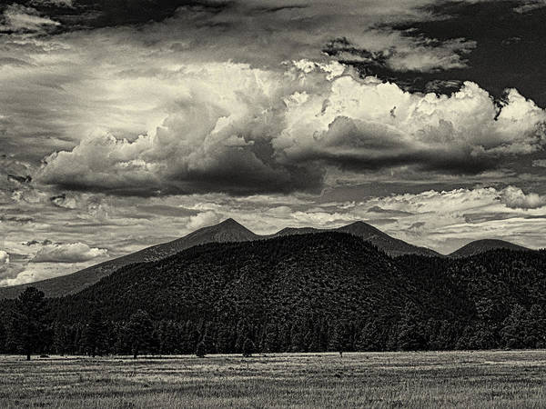 Wall Art - Photograph - San Francisco Peaks In Black And White by Joshua House