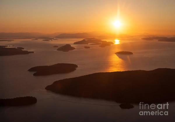 West Vancouver Wall Art - Photograph - San Juan Islands Sunset Evening by Mike Reid