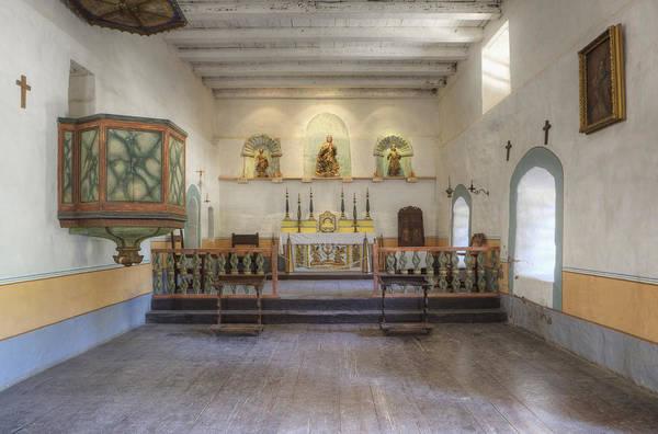 La Purisima Mission Photograph - Sanctuary And Pulpit At Mission La by Douglas Orton
