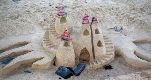 Wall Art - Sculpture - Sand Castle by Karen Elzinga
