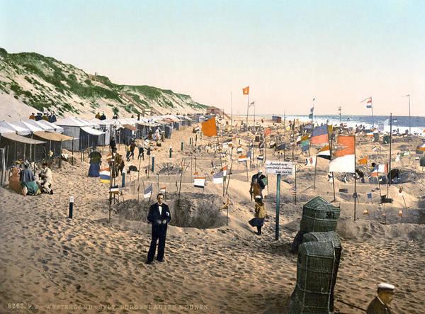 Photograph - Sand Castles, C1895 by Granger