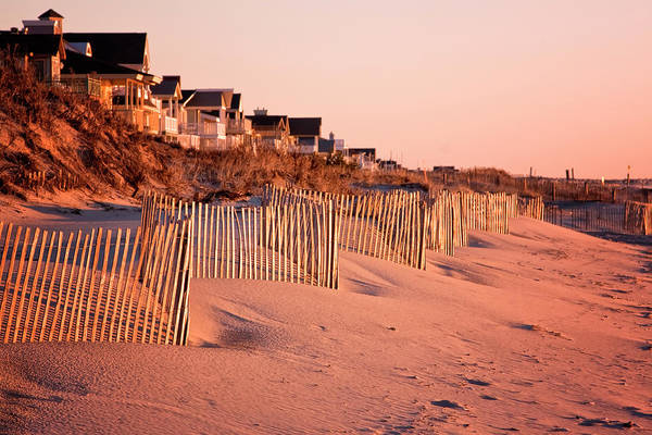 Photograph - Sand Fence Ocean City by Tom Singleton