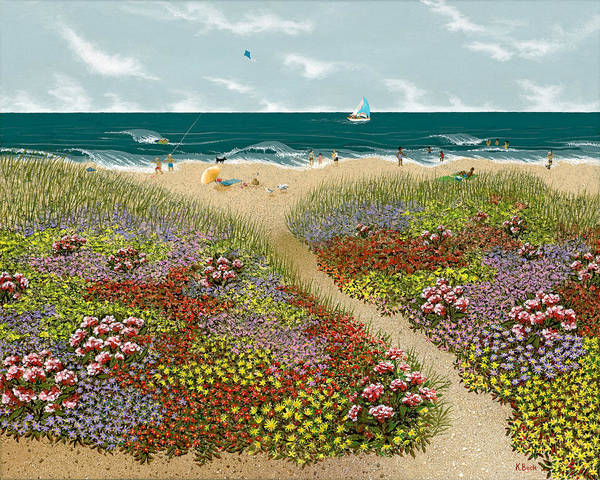 Wall Art - Painting - Sand Path by Katherine Young-Beck