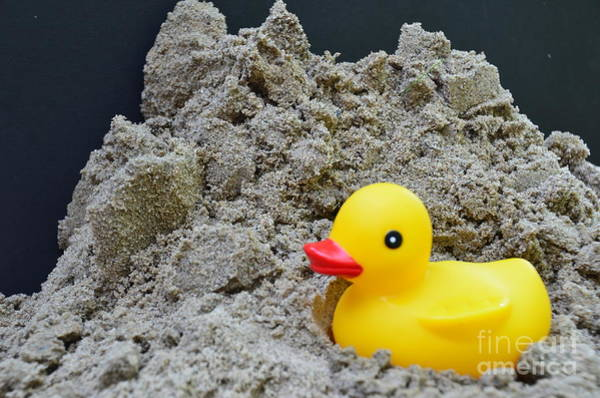 Sand Pile And Ducky Art Print