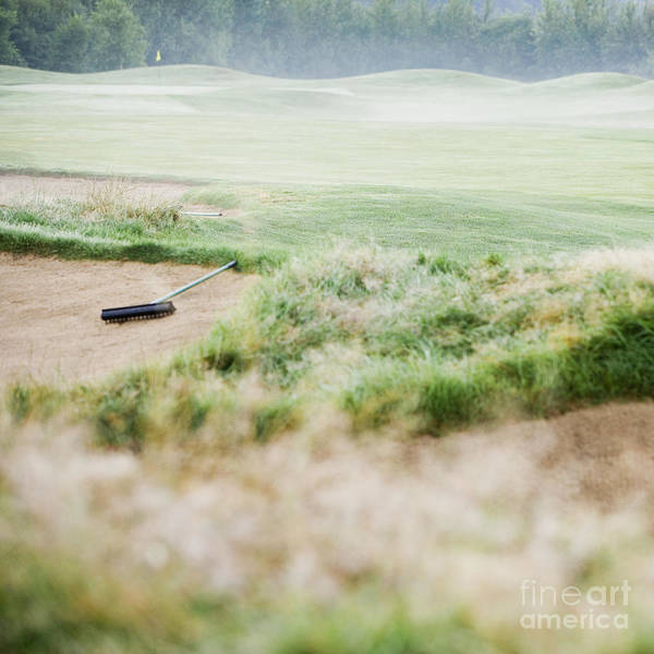 Redmond Photograph - Sand Trap At A Golf Course by Andersen Ross