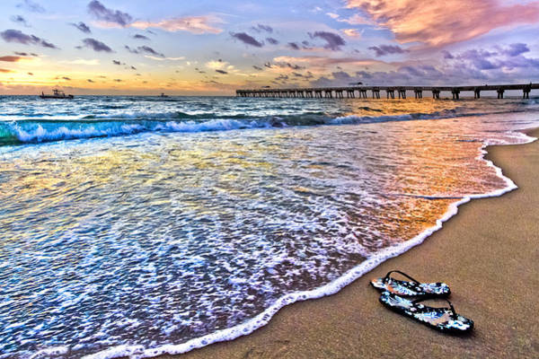 Lake Worth Wall Art - Photograph - Sandals by Debra and Dave Vanderlaan