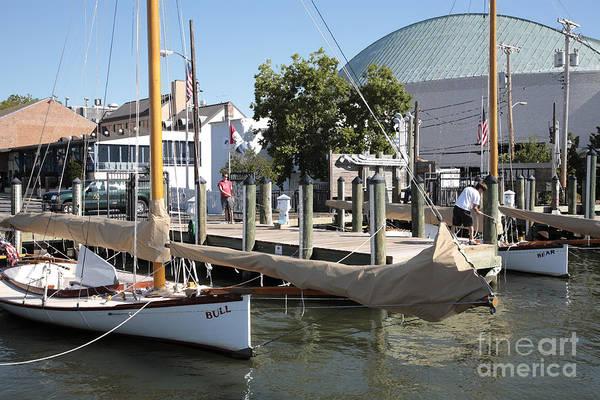 Photograph - Sandbagger Sailboats At The City Dock In Annapolis by William Kuta