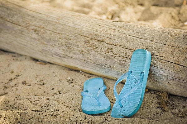 Photograph - Sandals Against Driftwood by Patrick M Lynch