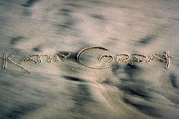 Photograph - Sandscript by Kathy Corday