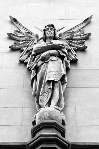 Photograph - Sandstone Figure As Exterior Decoration With Wings by U Schade