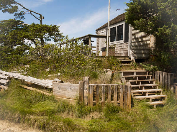 Photograph - Sandy Neck Dune Shack by Frank Winters