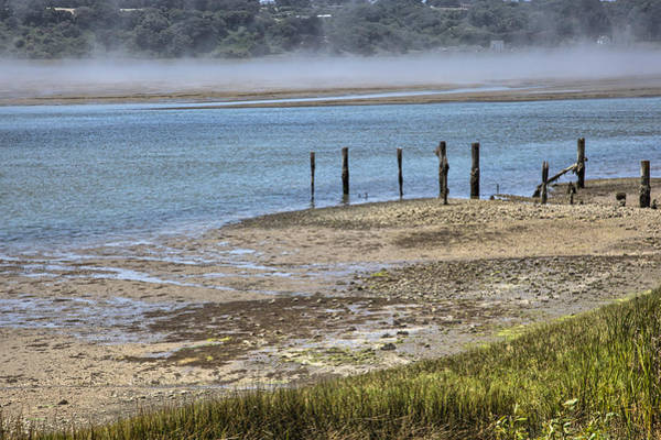 Photograph - Sandy Rockshore In The Mist by Peter Dyke