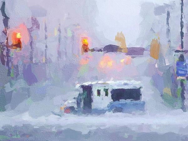 Hurricane Digital Art - Sandy Storm In Nyc by Yury Malkov