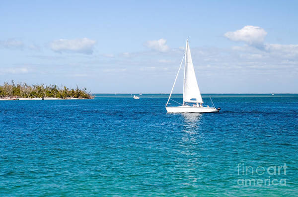 Powerboat Photograph - Sanibel Island Florida Ocean Sailboat by ELITE IMAGE photography By Chad McDermott