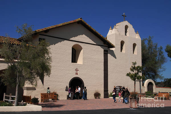 Photograph - Santa Inez Mission In Solvang California by Susanne Van Hulst