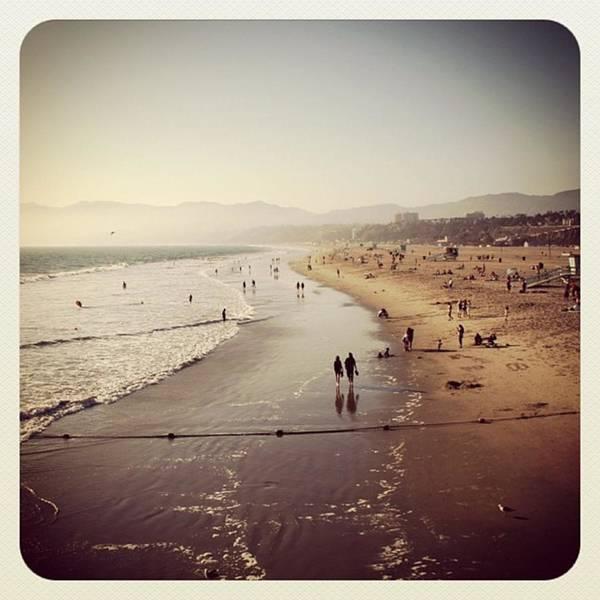 Sea Photograph - Santa Monica Beach by Luisa Azzolini
