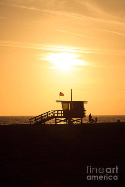 Wall Art - Photograph - Santa Monica California Sunset Photo by Paul Velgos