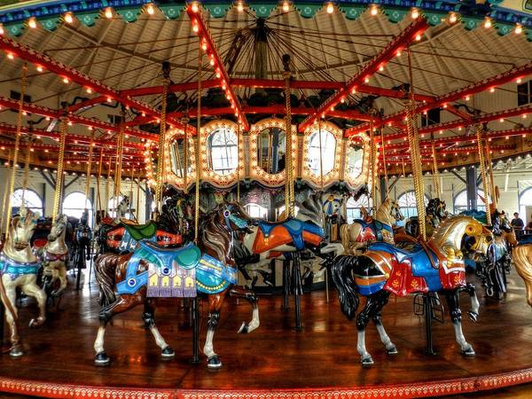 Photograph - Santa Monica Carousel 003 by Lance Vaughn