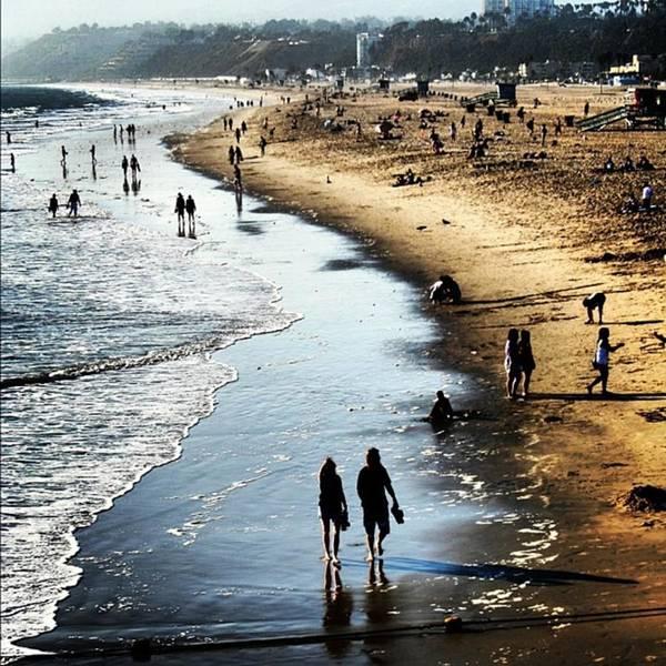Sea Photograph - Santa Monica by Luisa Azzolini