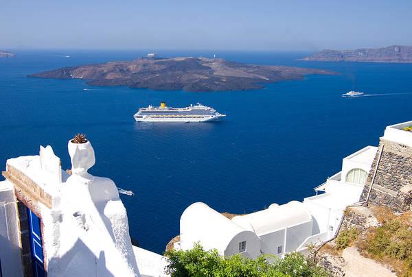 Greece Wall Art - Photograph - Santorini Cruising by Meirion Matthias