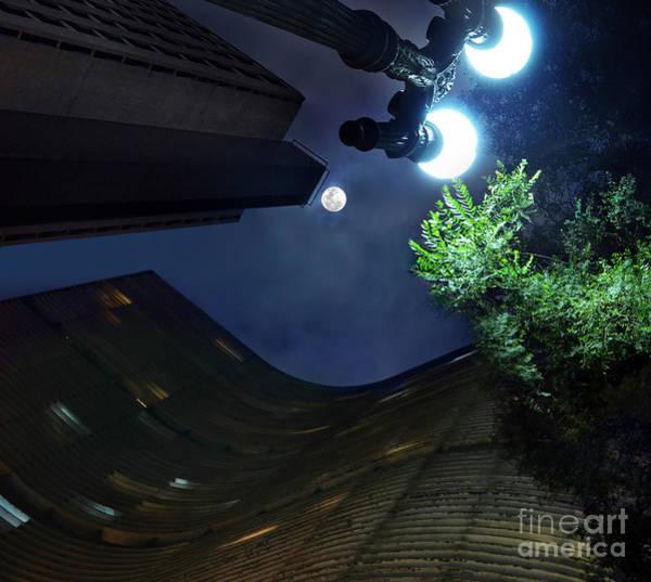 Copan Building And The Moonlight Art Print