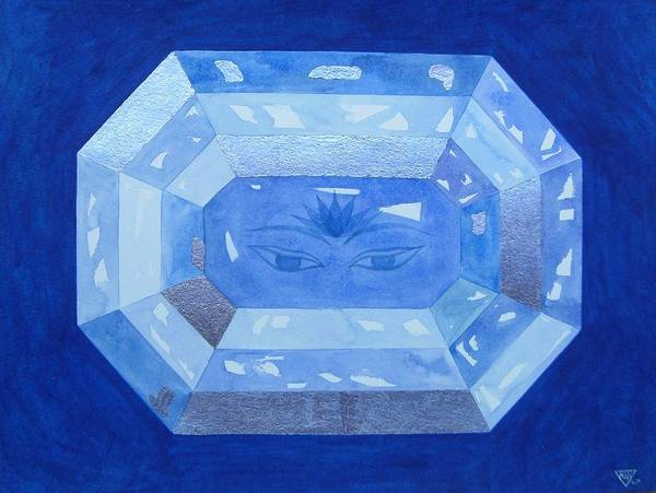 Wall Art - Painting - Sapphire Brow Chakra by Jennifer Baird