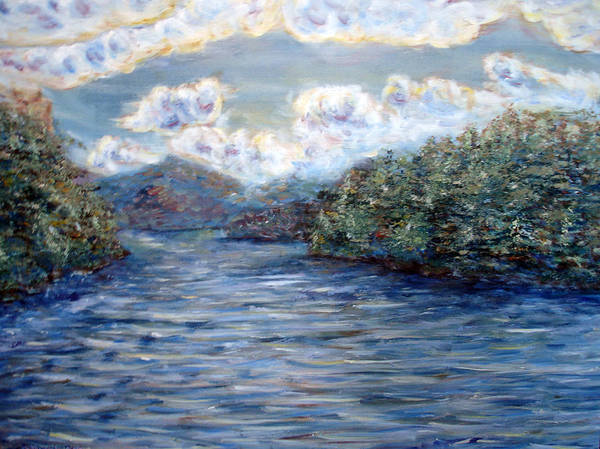 Adirondack Mountains Painting - Saranac Lake On A Summer Evening by Denny Morreale