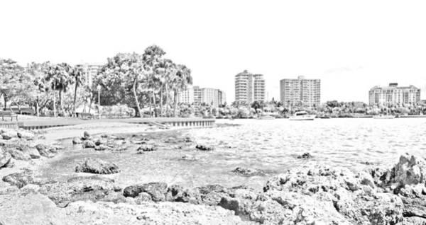 Ink Photograph - Sarasota Sketch by Betsy Knapp
