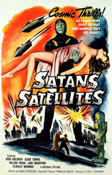 1958 Movies Photograph - Satans Satellites, Feature Version by Everett