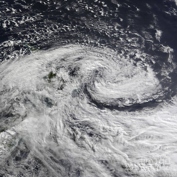 Photograph - Satellite View Of A Storm Over New by Stocktrek Images