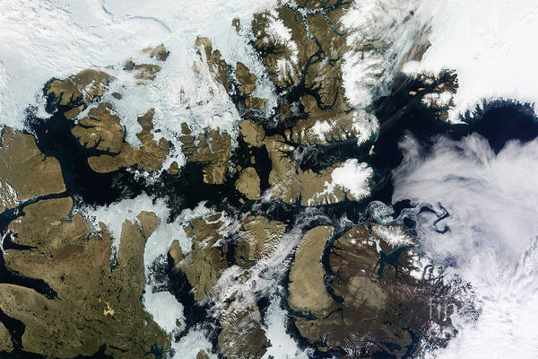 Melville Photograph - Satellite View Of Parry Channel by Stocktrek Images