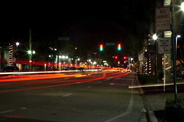 Photograph - Saturday Night Lights Atlantic Ave Delray Beach Florida by Michelle Constantine