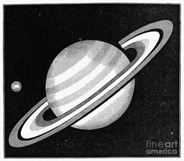 Photograph - Saturn And Earth, 1873 by Granger