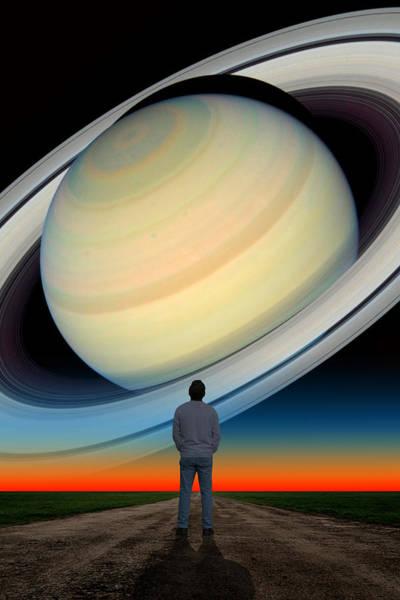 Photograph - Saturn Gazing by Larry Landolfi