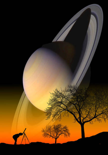 Photograph - Saturn Viewing by Larry Landolfi