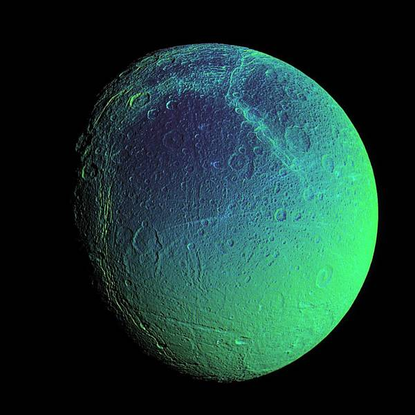 Dione Photograph - Saturn's Moon Dione, Cassini Image by Nasa