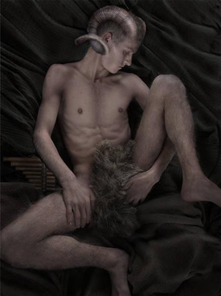 Digital Art - Satyr At Rest by John Clum