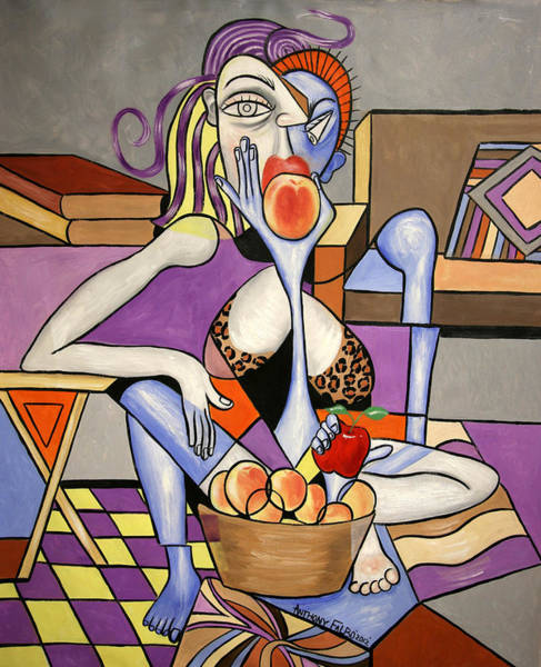 Save Painting - Save An Apple Eat A Peach by Anthony Falbo