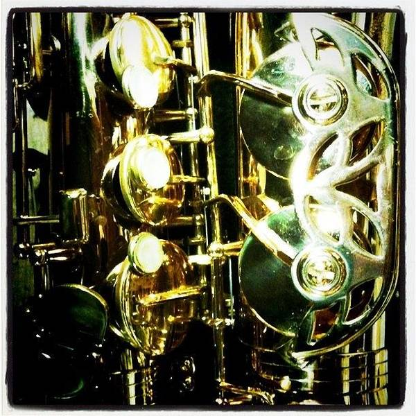 Power Wall Art - Photograph - Sax Keys by Ken Powers